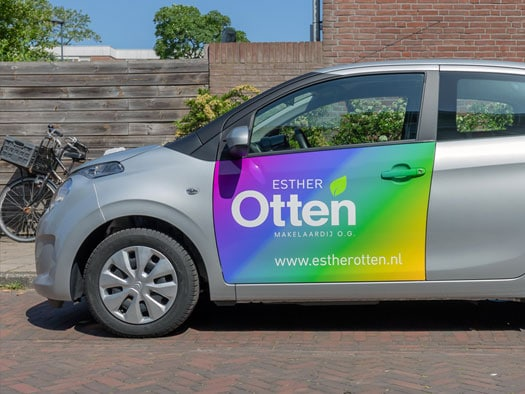 design car wrapping real estate agent