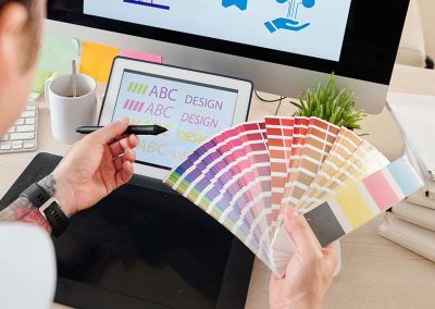 How to determine the use of colour in logo, house style and website