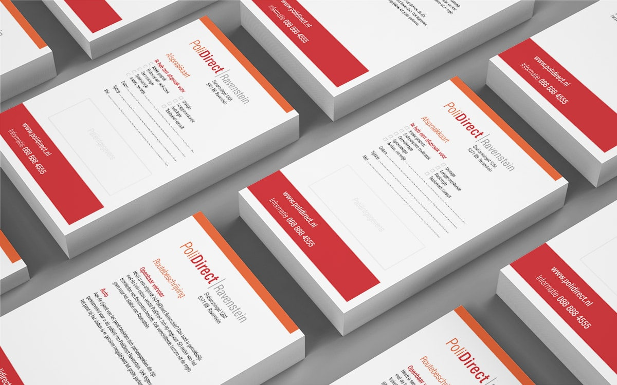 Design of medical appointment card