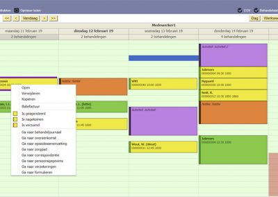 Fysiotherapie software agenda