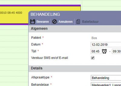 logopedie software sms en email
