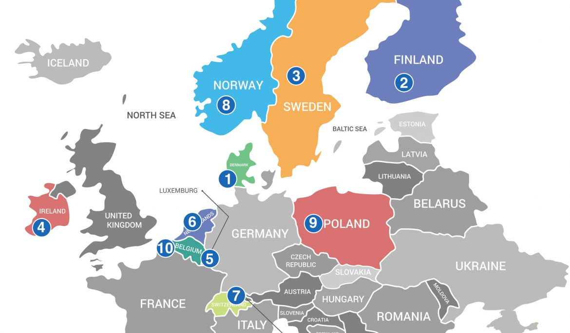 LinkedIn Europe – August 2019 – What countries have the most Job Changes in Europe?