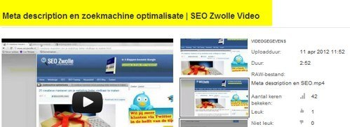 Video en SEO - Zoekmachine optimalisatie