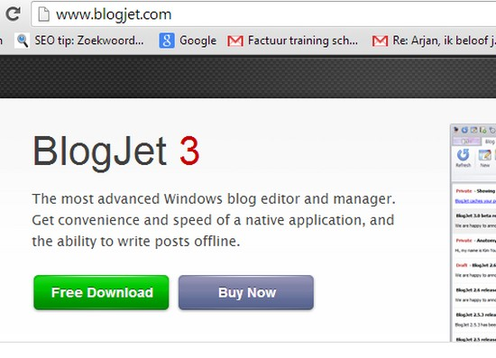BlogJet en WordPress