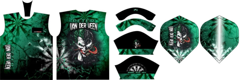 Dartshirt en flights Peter van der Veen