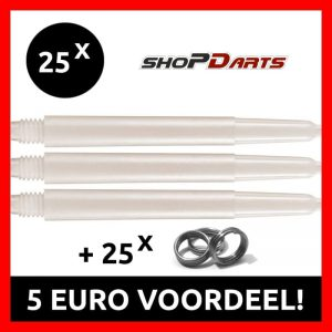 25 Sets Nylon Shafts natural